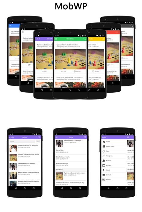 phonegap templates for android free mobwp wordpress to cordova phonegap mobile app