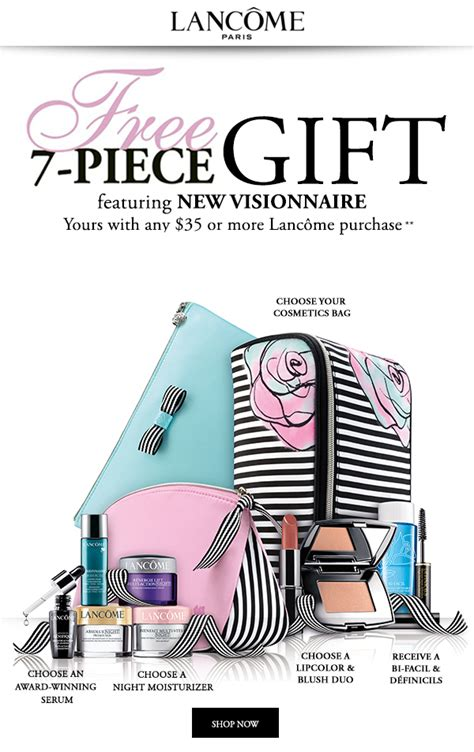 Free Gift With Purchasethis Just In From The Bod by Herbergers Lanc 244 Me Free 7 Pc Gift With Any 35 Lanc 244 Me