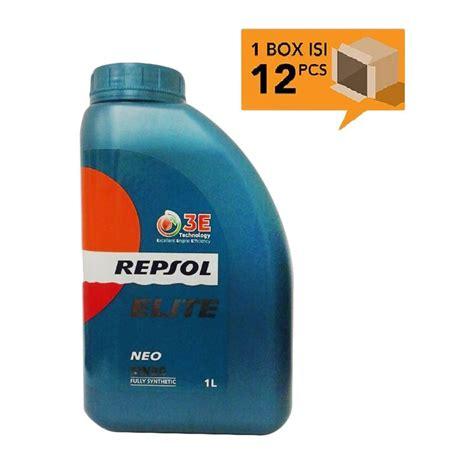 Oli Repsol 1 Liter jual repsol elite neo fully synthetic 5w 30 oli pelumas