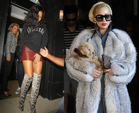 According To Peta All Animal Skin Is The Same peta labels rihanna and gaga freaks for wearing