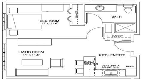 one bedroom plan one bedroom apartment floor plan 1 bedroom efficiency