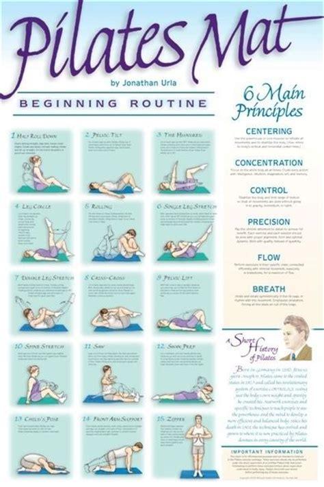 pilates exercises for beginners diagrams pilates mat exercise beginner wall chart fitness poster