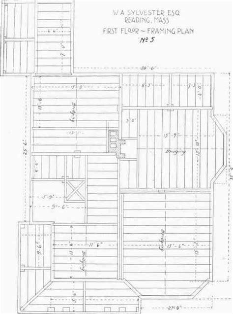 floor  framing plans    sylvesters house
