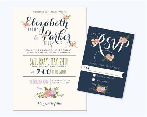 printable wedding invitation bundles printable wedding invitation bundle cute floral invite