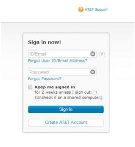 create at t email account sign up at t net mail at t