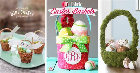 diy easter basket 60 diy easter basket ideas for 2017