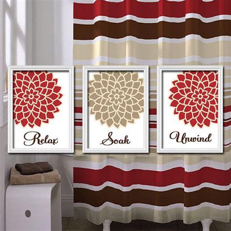 theme quotes in unwind bathroom decor bathroom wall art canvas or prints red