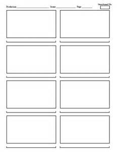 Storyboard Panels Template by Templates Filmmaking Unedited