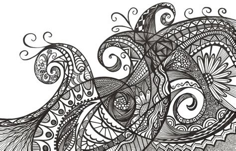 zentangle wave pattern so you just draw patterns that s it the liverbird nest