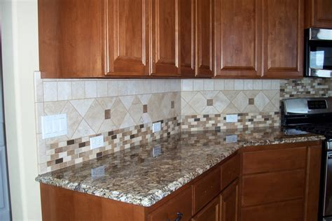 kitchen with tile backsplash kitchen backsplash ideas white cabinets brown countertop