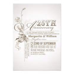 beautiful typography 25th anniversary invitations 5 quot x 7 quot invitation card zazzle