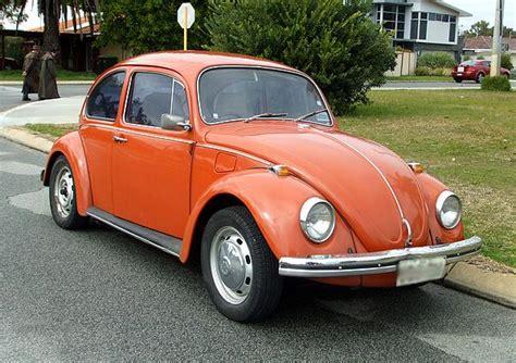 orange volkswagen beetle vw beetle 1300 brakehorsepower
