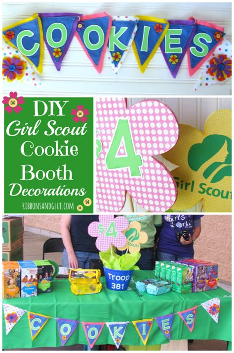 cookie table decorations scout cookie booth decorations centerpieces