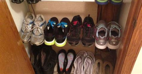 Tension Rod Shoe Rack by Tension Rods As A Shoe Rack Works Amazing For The Home