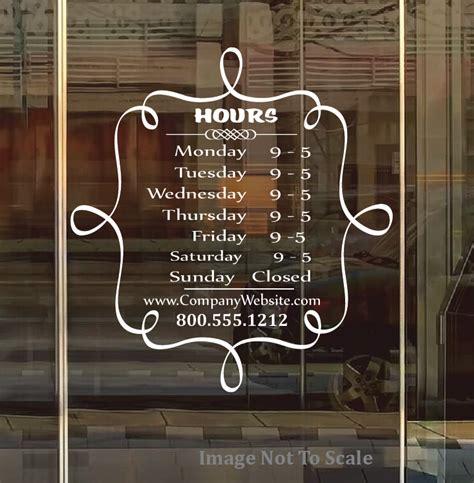 Fensteraufkleber Schaufenster by Store Front Business Custom Window Decal Style 001 Dd