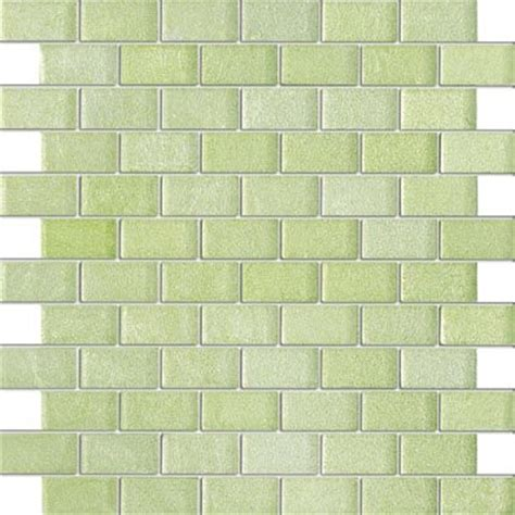 1 X2 Ceramic Tile - lime green galaxy series 1 quot x2 quot glass tile