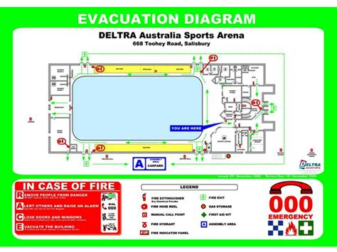 Wall Display Evacuation Maps Mohawk Color