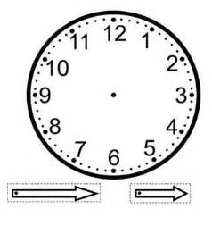 make your own clock template a clock template that can be used as a craft with the