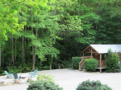Lands Creek Log Cabins by Sunset From Firepit Area At Bobcat Picture Of Lands