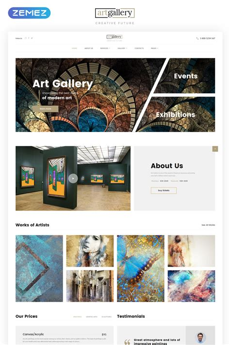 Art Gallery Multipage Html5 Template Gallery Template