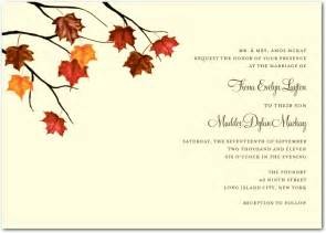 fall autumn wedding invitations