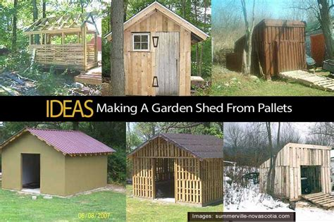 Sheds From Pallets by Build A Shed From Pallets Sanglam
