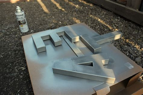 spray painting cardboard clever spray paint cardboard letters with metallic