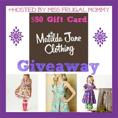 Jane Com Giveaway - matilda jane 50 gift card giveaway miss frugal mommy