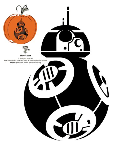 free printable pumpkin stencils star wars bb8 pumpkin pattern woo jr kids activities