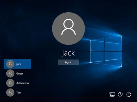 L In Windows by Switch User Windows 10 Shortcut Password Recovery
