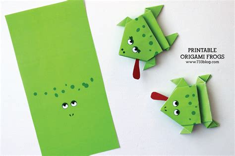 Origami Frog Printable - printable origami frogs inspiration made simple