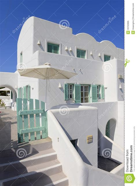 white house details white and blue house details in oia village royalty free stock photo image 33702895