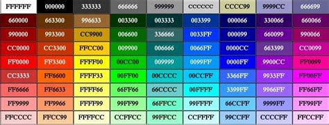 video layout bgcolor rgb colour chart click to zoom its all about the