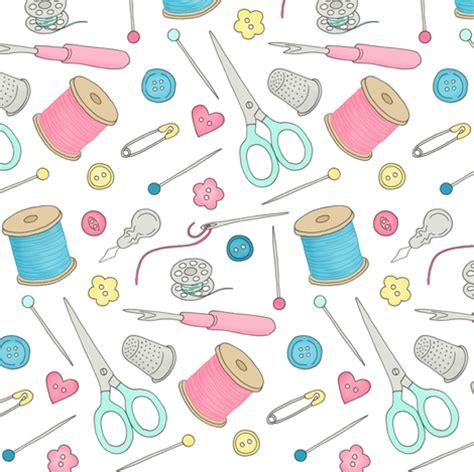 sewing pattern wallpaper sewing notions 1 mixed notions fabric hazel fisher