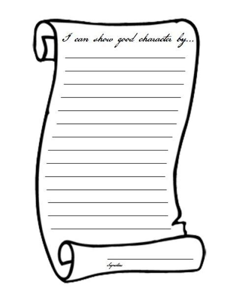 scroll writing paper printable scroll paper clipart best