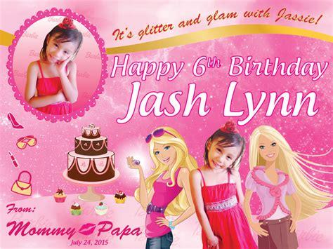 free layout for birthday tarpaulin barbie theme birthday tarpaulin ronaleer