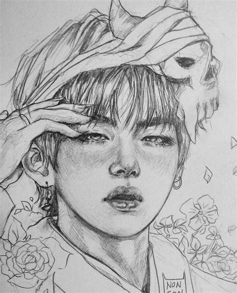 Kpop Drawing by Pin By Lydia Chin On Bts Bts Fanart And Kpop