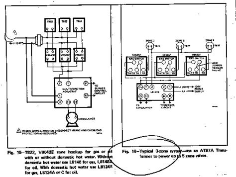 honeywell zone valve wiring diagram zone valve wiring installation guide to