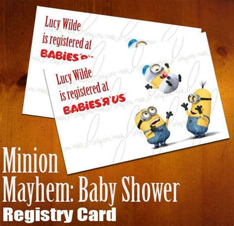 Best Place To Register For Baby Shower by 17 Best Images About Minions On Minion
