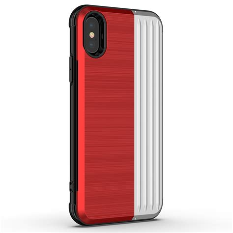 angibabe tpu pc protective for iphone xr with card slot and holder silver