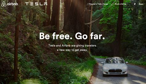 airbnb tagline airbnb tesla become friends gas 2