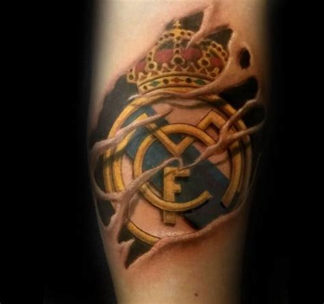 real madrid tattoo 60 real madrid designs for soccer ink ideas