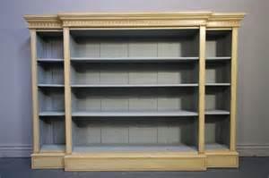decorative antique fronted open bookcase antiques
