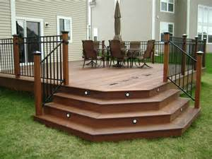 Deck Corner Stairs Design Ipe Hardwood Deck Chicago By Millennium Construction