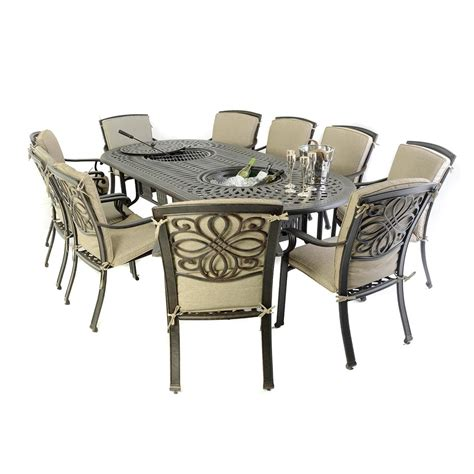 10 seat outdoor dining set 10 seat cast aluminium outdoor dining sets