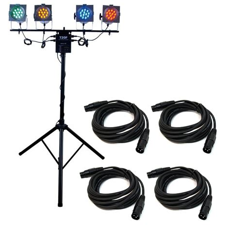 lighting system american dj ls70a portable lighting system 4x par 38 led