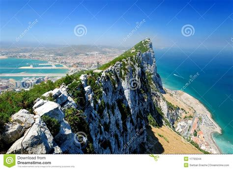 rock of gibraltar l rock of gibraltar stock photo image of monolithic
