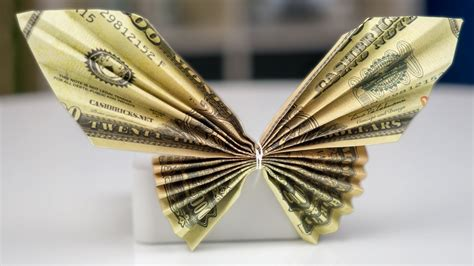 Origami Butterfly Money - money gift idea butterfly dollar bill origami tutorial