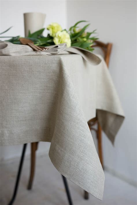 six table cloths tablecloth in flax crop linen