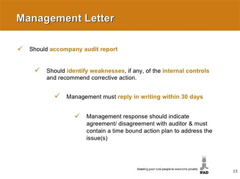Audit Report Response Letter external audit